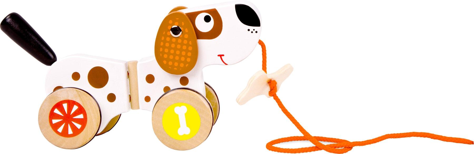 Houten speelgoed hondje