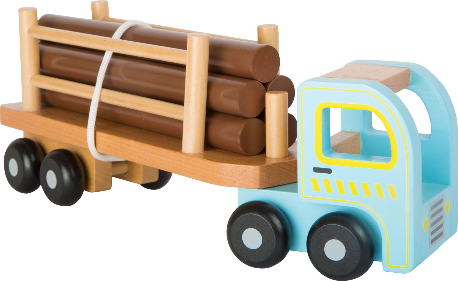 Houten speelgoed vrachtwagen