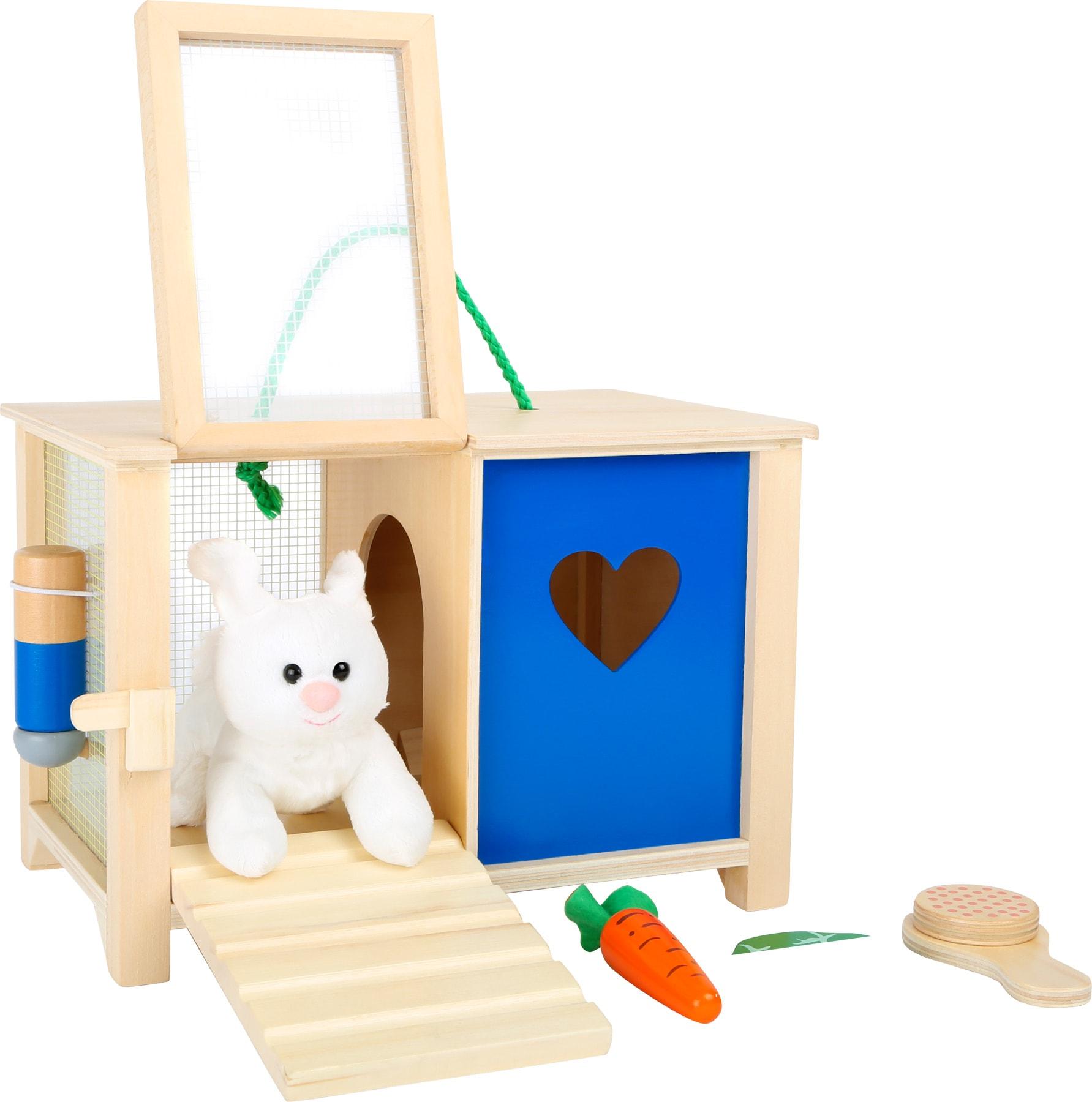 Houten konijnhuisje speelgoed
