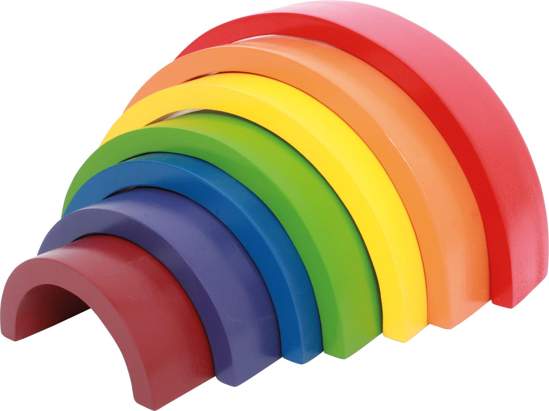 Houten speelgoed regenboog