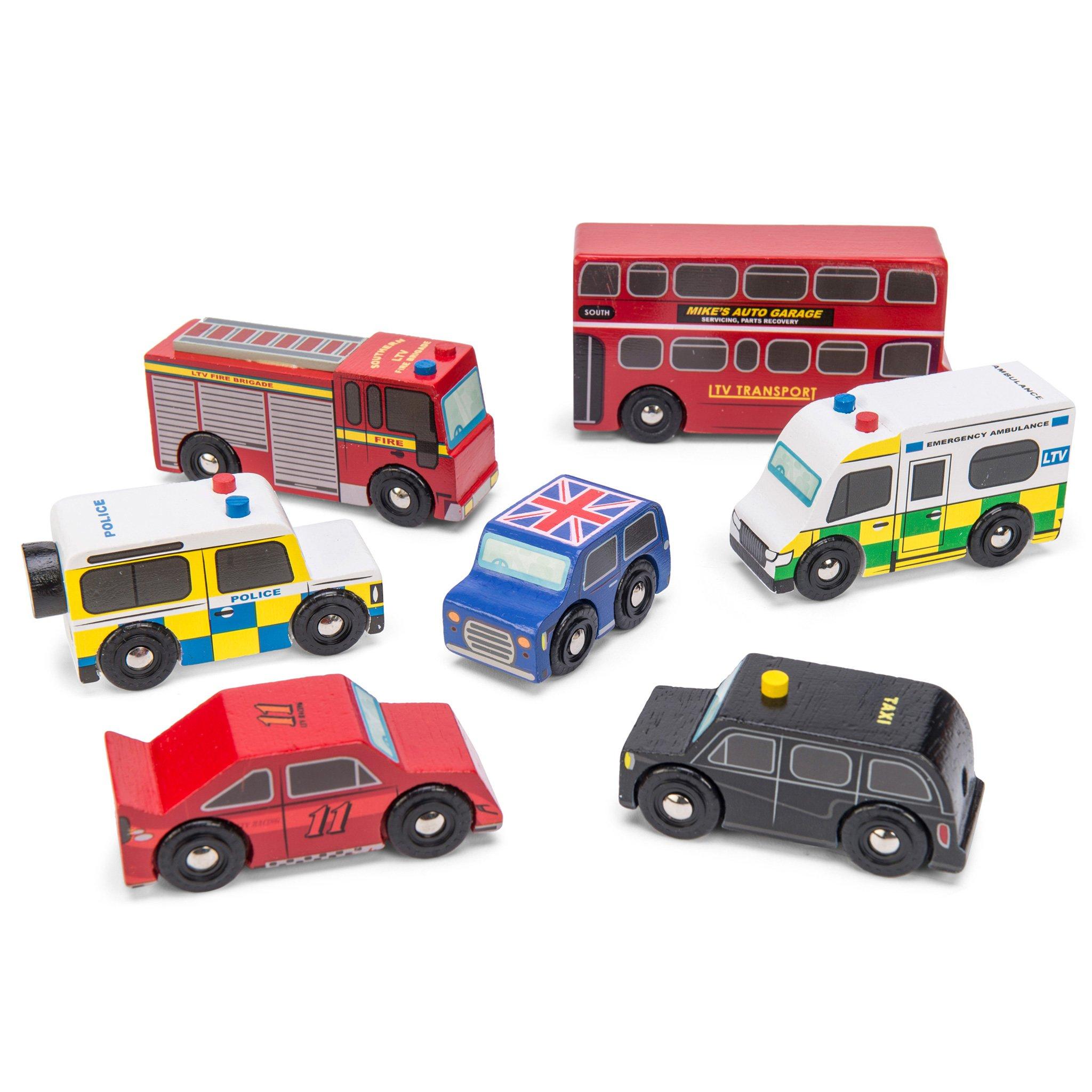 Houten auto's Londen Bus