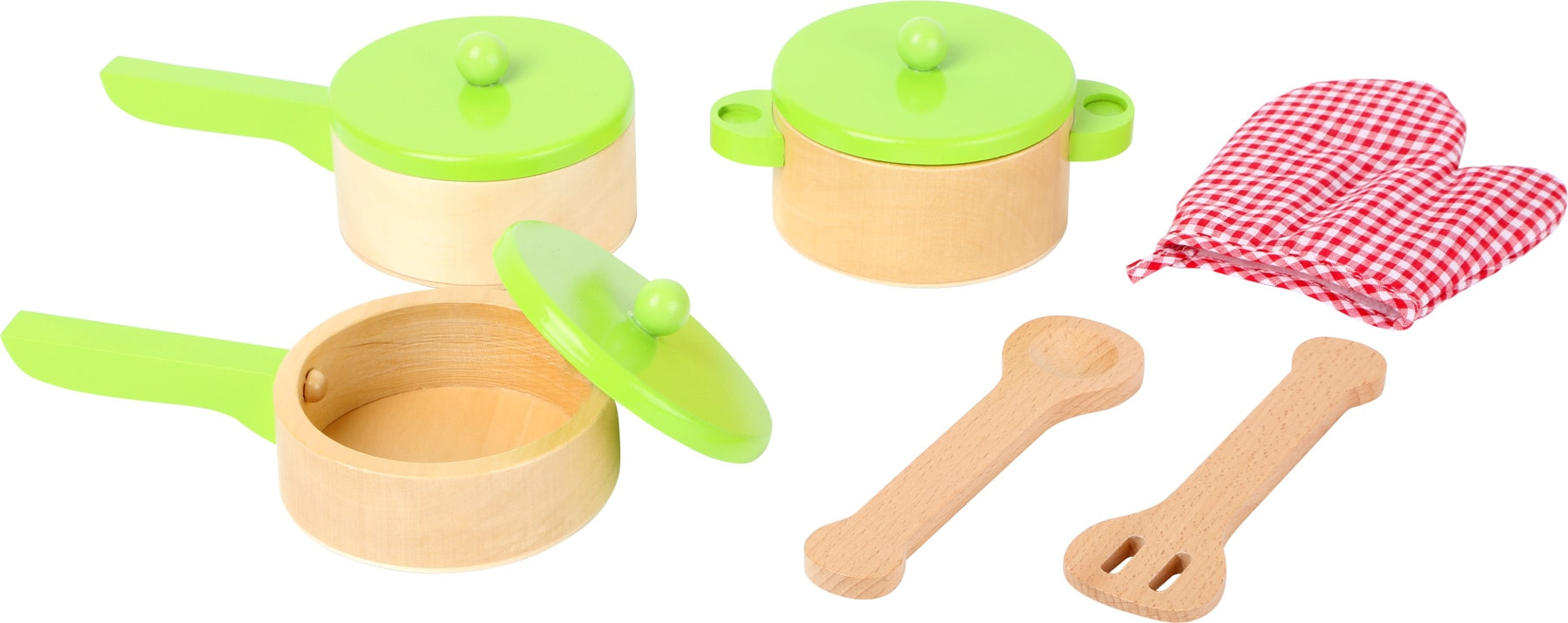 houten potten pannen keuken