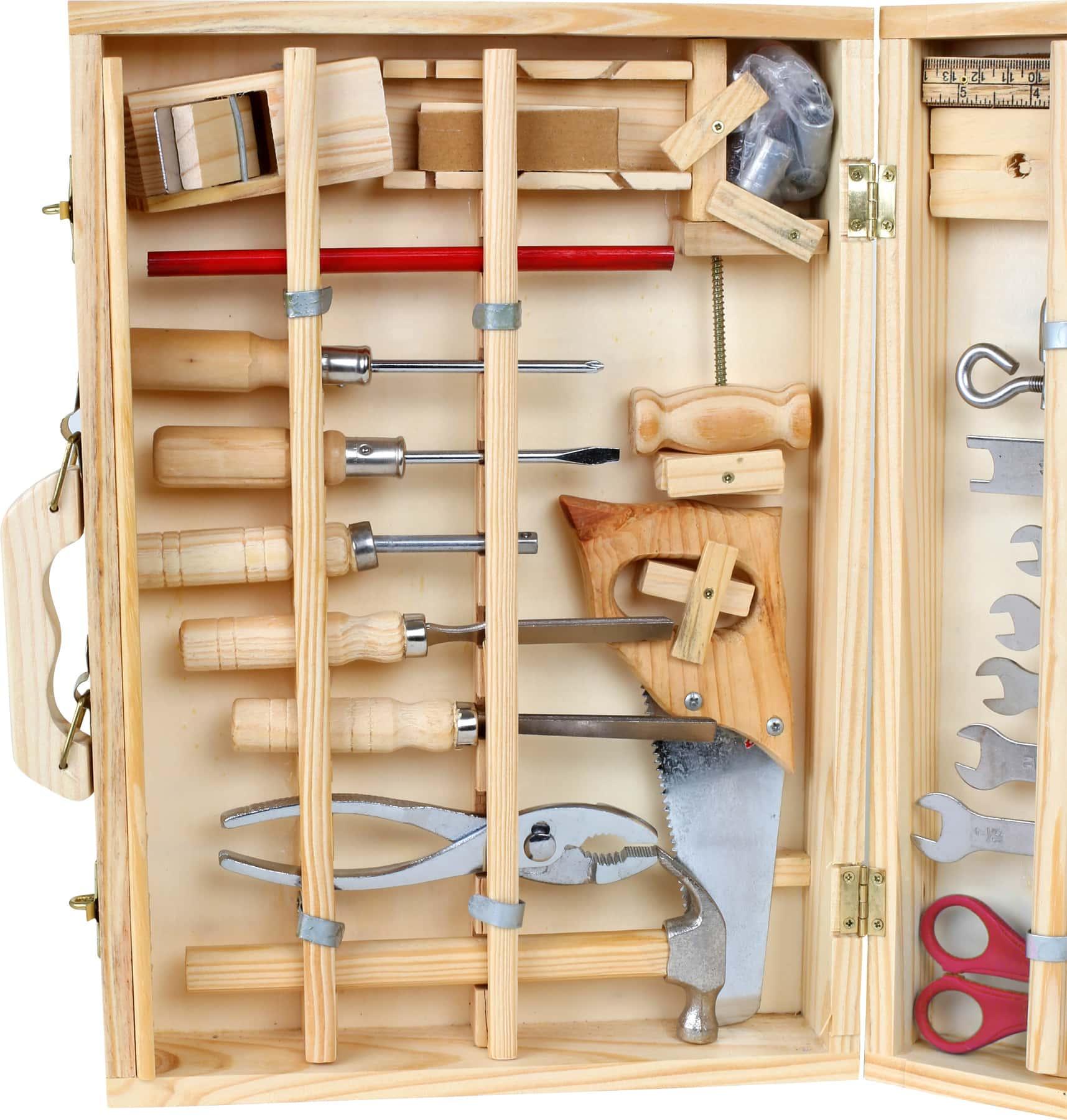houten werkkoffer gereedschapskist klusser