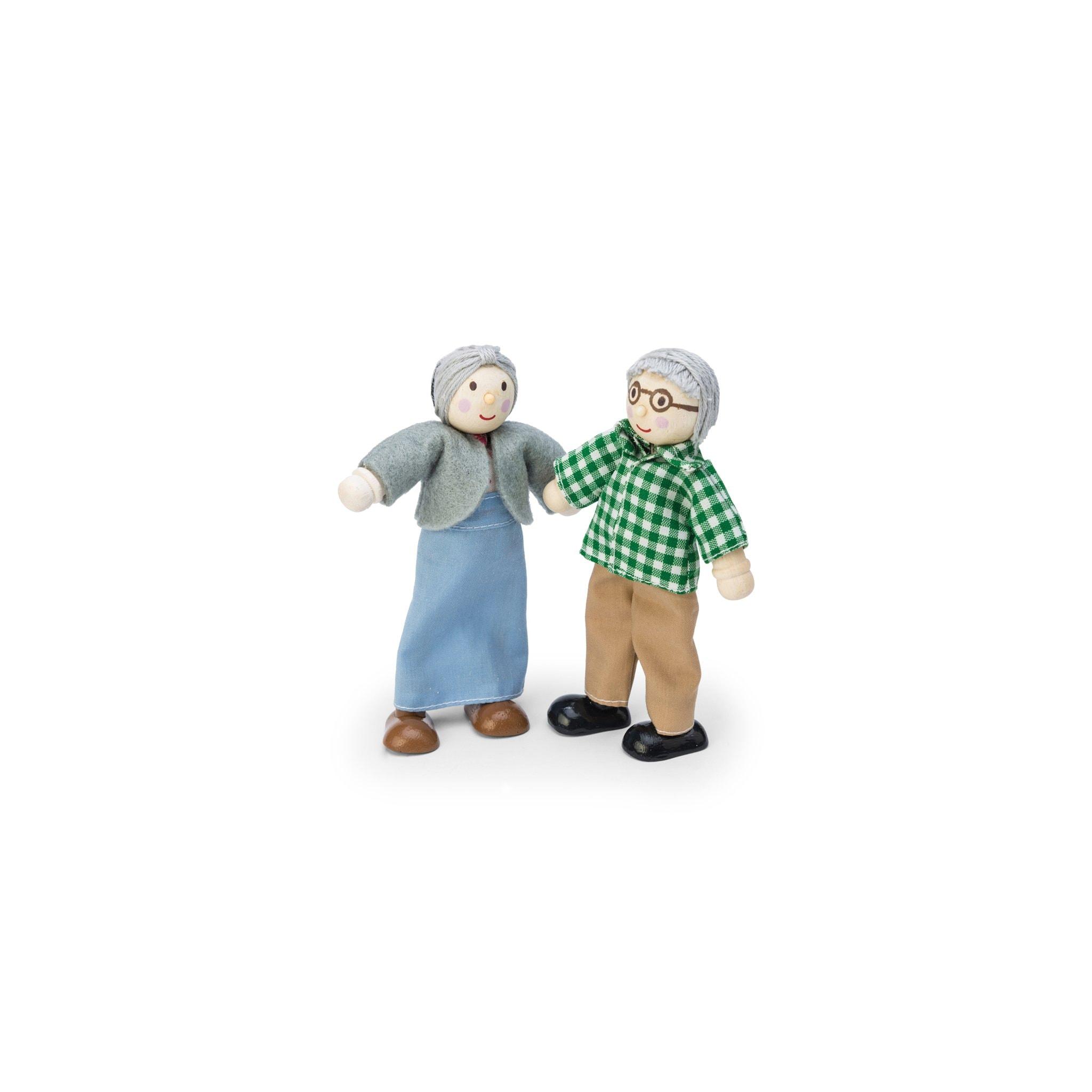Houten poppenhuis poppen